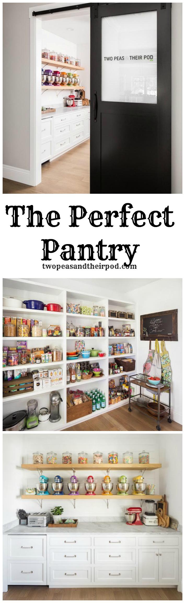 Take a Tour of this DREAMY pantry on twopeasandtheirpod.com