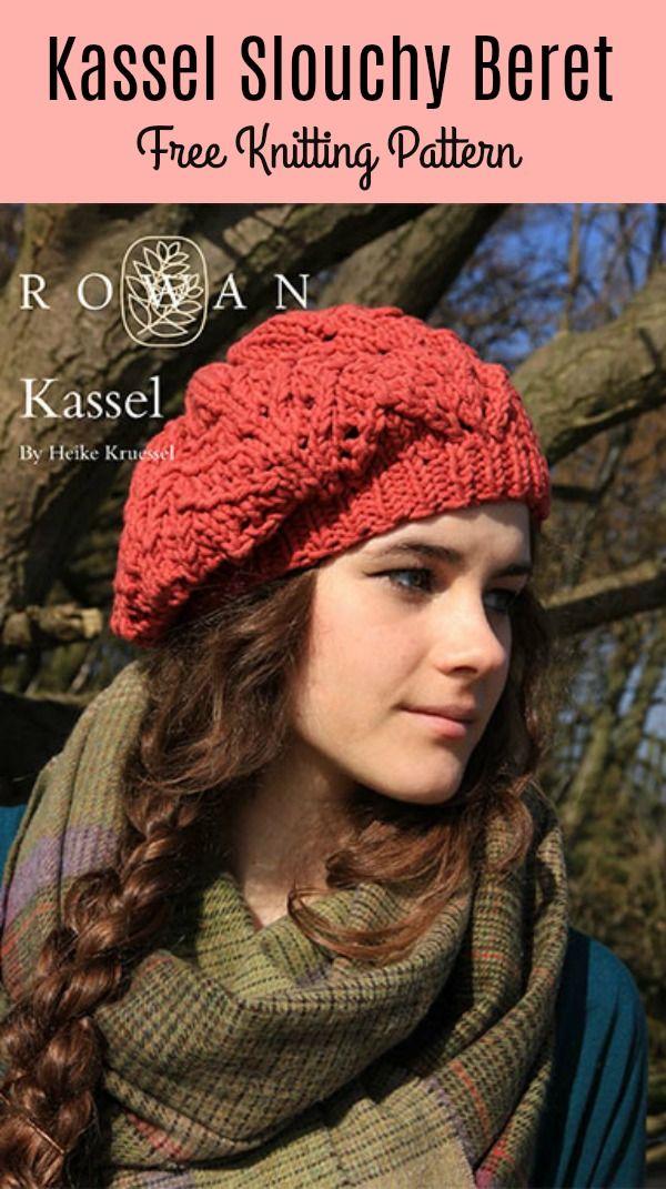 Kassel Slouchy Beret Free Knitting Pattern | Hats | Pinterest ...