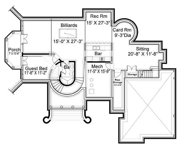 House Plans With Basements walkout basement house plans direct from the nations top home plan designers Kildare Castle House Plan 5997 5 Bedrooms And 4 Baths The House Designers