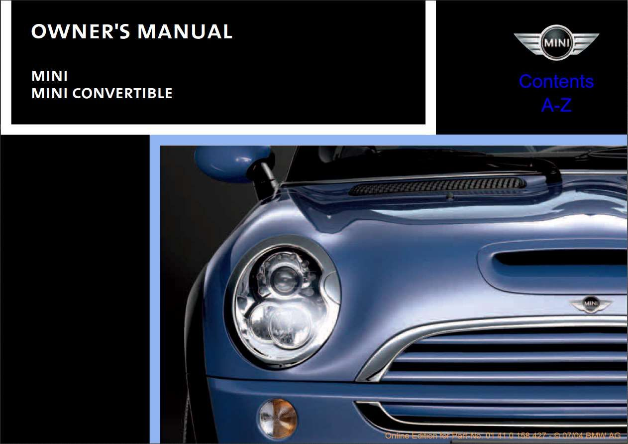 Mini Cooper 2005 Owner S Manual Has Been Published On Procarmanuals Com Https Procarmanuals Com Mini Coope Mini Cooper Convertible Owners Manuals Mini Cooper
