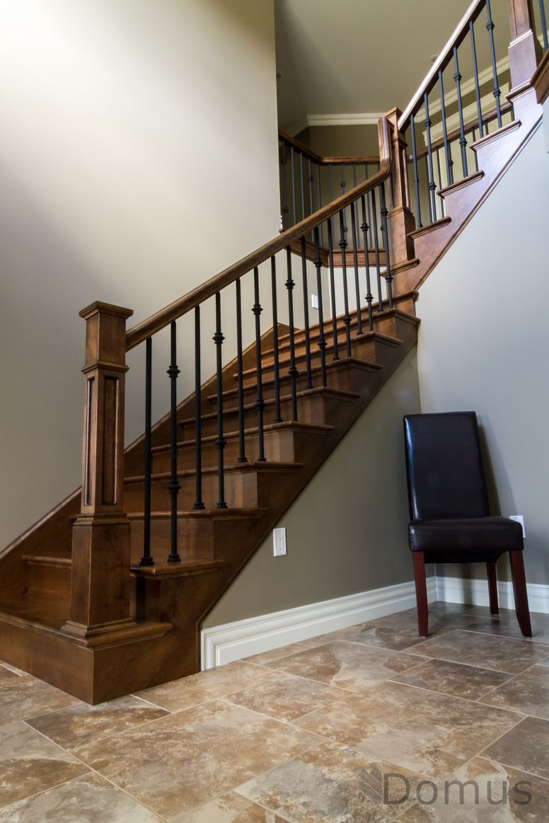 Best Staircase With Rfp Posts Black Metal Spindles Collars 400 x 300