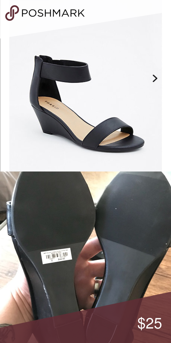 3b17f78d759 Double Strap Mini Wedges 8 (Wide Width) Still available in stores and  online. Never worn! Smoke Free   Pet Friendly 🏡 torrid Shoes Platforms