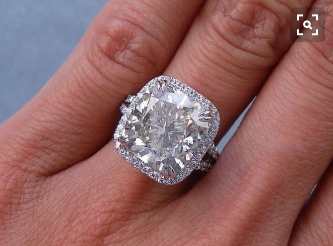 Pin by emily victor on rings pinterest ring wedding big diamond ringscushion junglespirit Choice Image