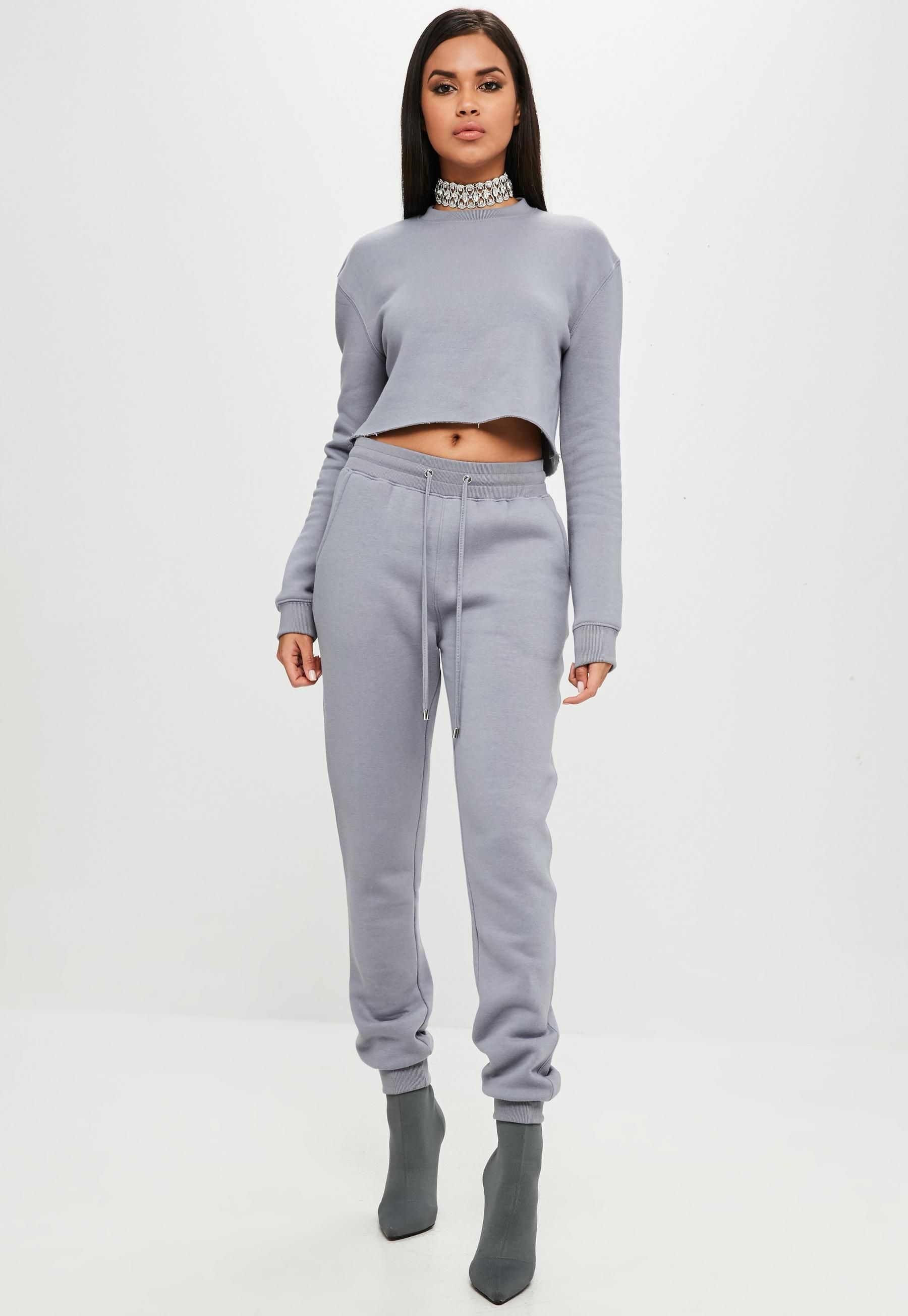 74a873db27a Carli Bybel x Missguided Gray Joggers