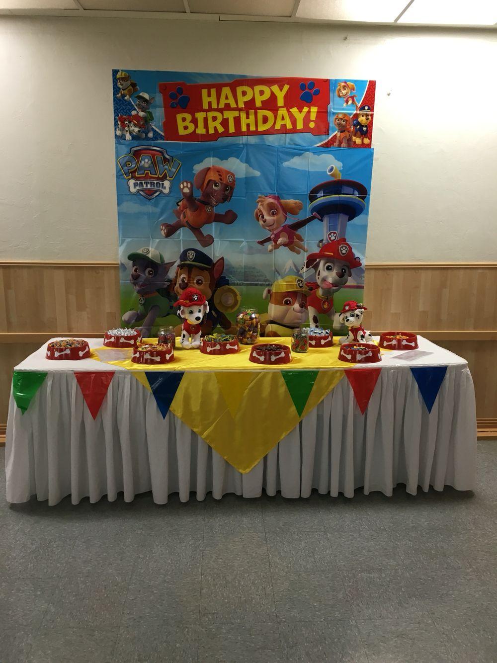 Paw Patrol Candy Table Paw Patrol Birthday Theme Paw Patrol Birthday Party Paw Patrol Birthday