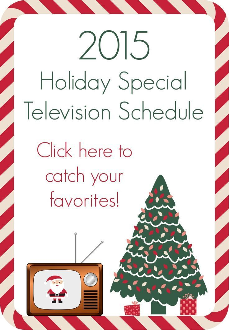 2015 holiday specials television schedule - 2015 Christmas Specials