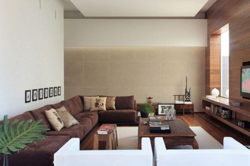 modernes wohnzimmer braun | masion.notivity.co