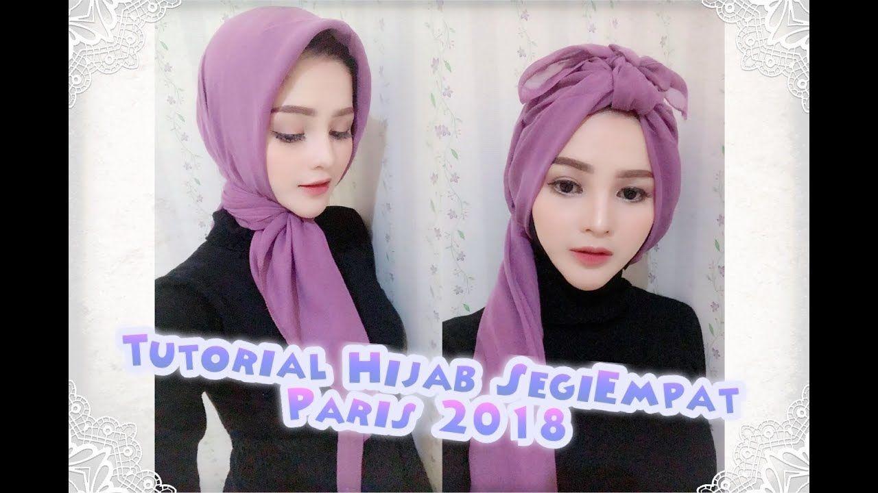 Tutorial Jilbab Segi Empat Menutup Dada Simple Hijab Wajah Kasual
