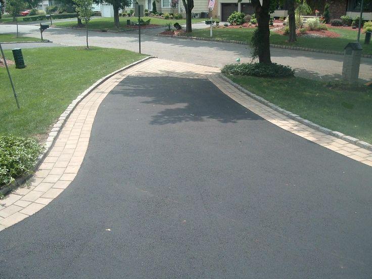 Driveway Concrete Paver Border On Asphalt Google Search Paving