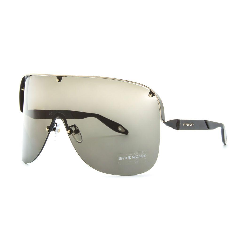 8fd6bf6d49e34 Givenchy SGV A17 Shield Sunglasses 0305 Black   Gold Frame   Grey Lenses   Givenchy