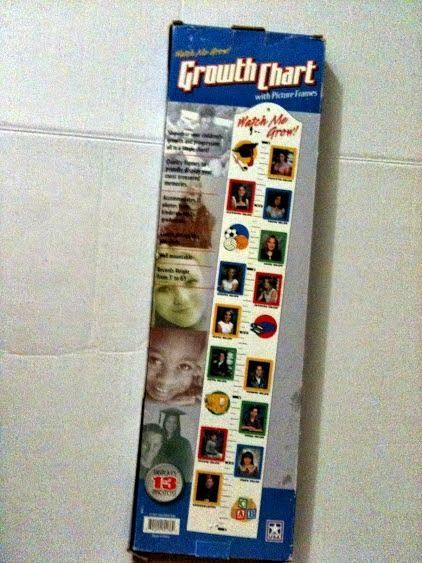 Watch me grow growth chart with picture frames also sold diy rh pinterest