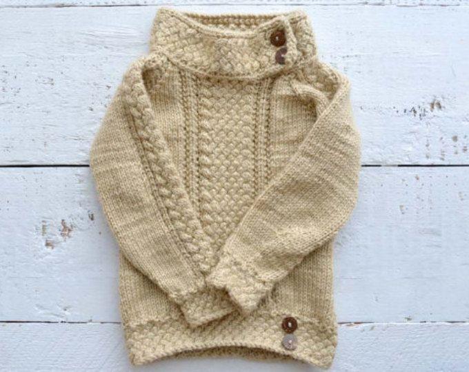 KNITTING PATTERN PDF sweater - Knit pattern sweater - Baby sweater ...