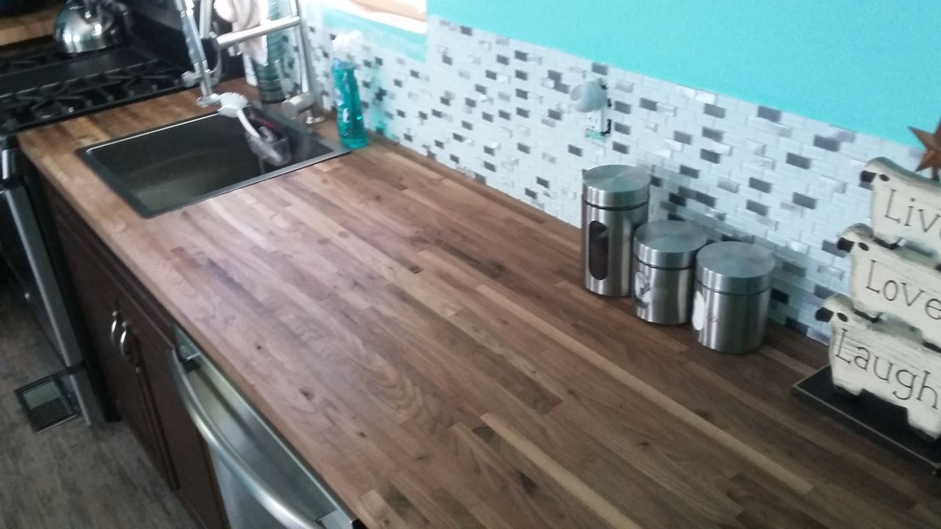 This counter is so beautiful Walnut countertop, Lumber