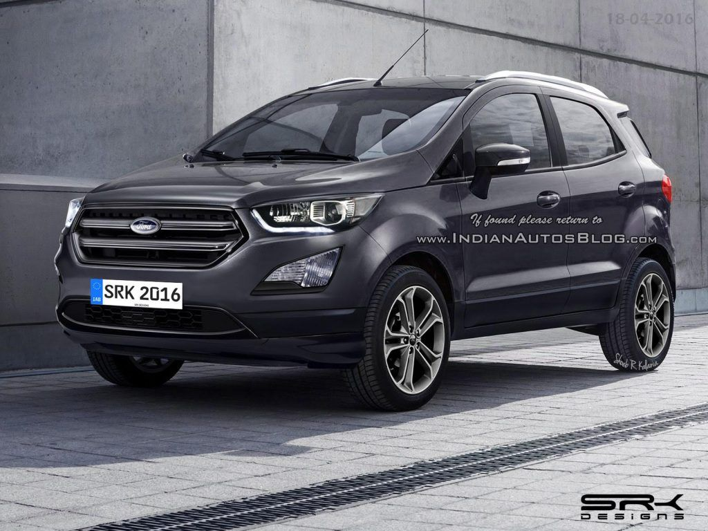 2017 Ford Ecosport Facelift Rendering By Shoeb R Kalania Iab S