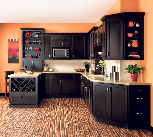 Giving Your Kitchen A Fresh Look This Fall Hawaii Renovation Orange Kitchen Walls Kitchen Design Custom Kitchen Cabinets