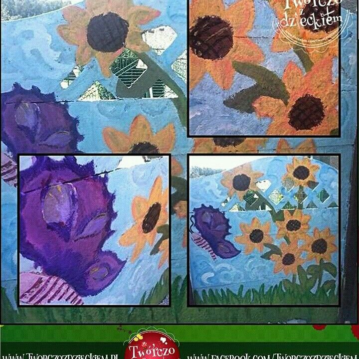 Kwiaty Ogrod Miejsce Dla Dziecka Malowanie Scian Wall Painting Garden Flowers Diy Art Painting