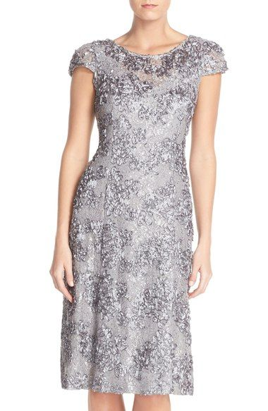 2bcac9218f Alex Evenings Rosette Lace A-Line Dress available at  Nordstrom