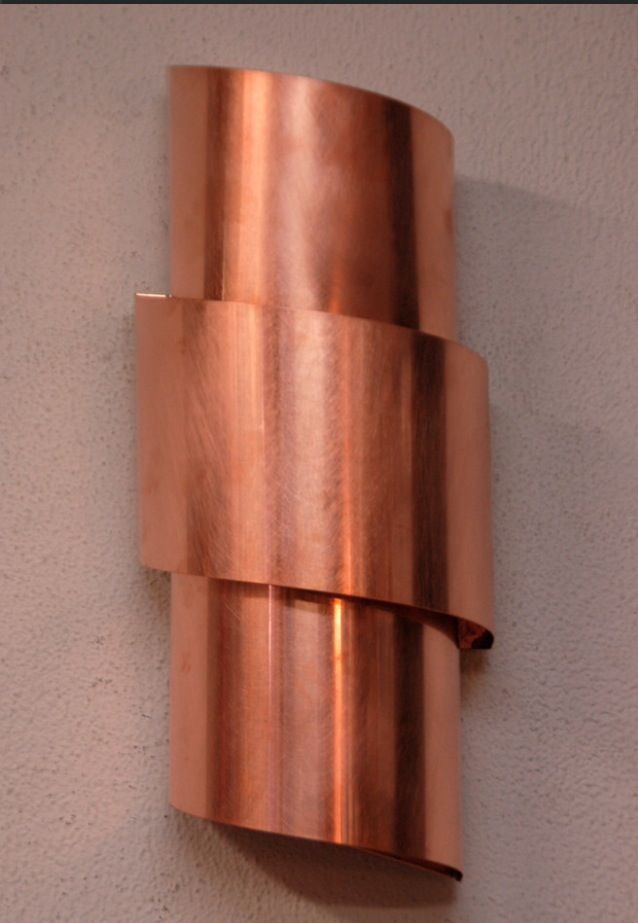 Copper Wall Sconce Lighting Bright Copper Bathroom
