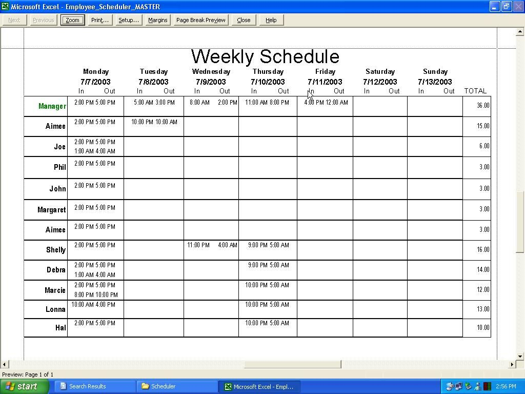 Weekly employee schedule template excel ideas for the house weekly employee schedule template excel pronofoot35fo Gallery