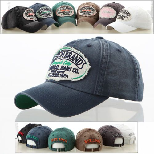 Denim Fabric Adjustable Merry Christmas Vintage Baseball Cap