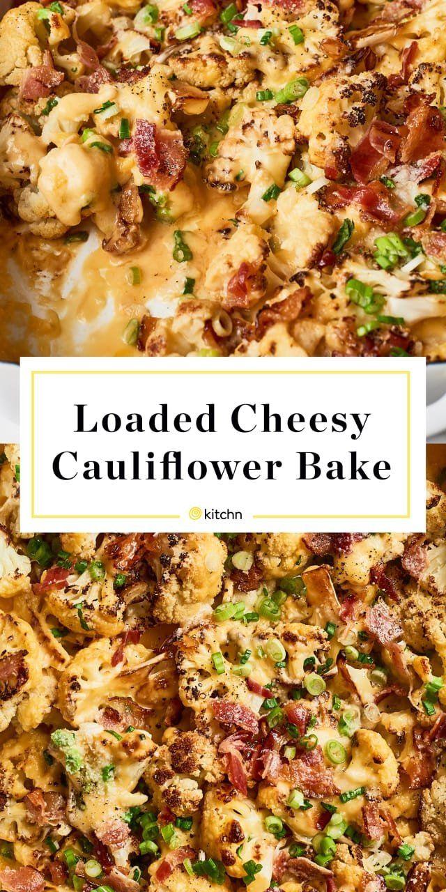 Loaded Cheesy Cauliflower Bake Receita Couve Flor Receitas E