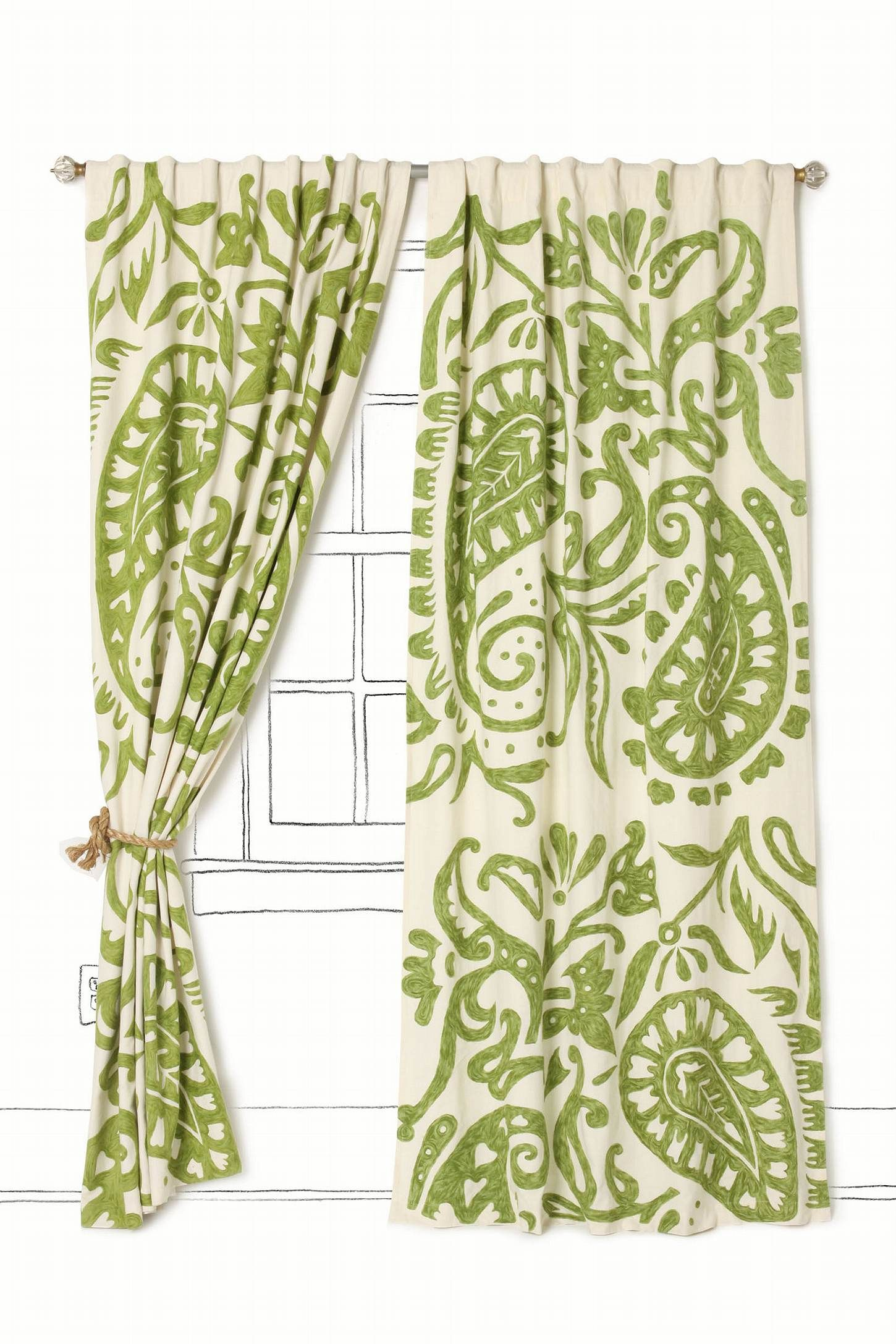 Lakarri Curtain Green Curtains Contemporary Window Treatments