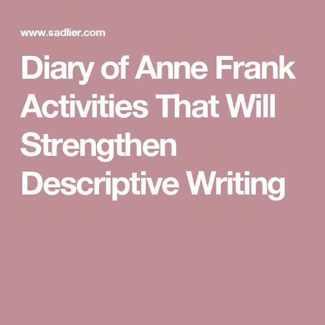 anne frank writing prompts