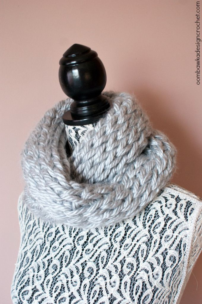 Not Knit Warm and Quick Winter Cowl