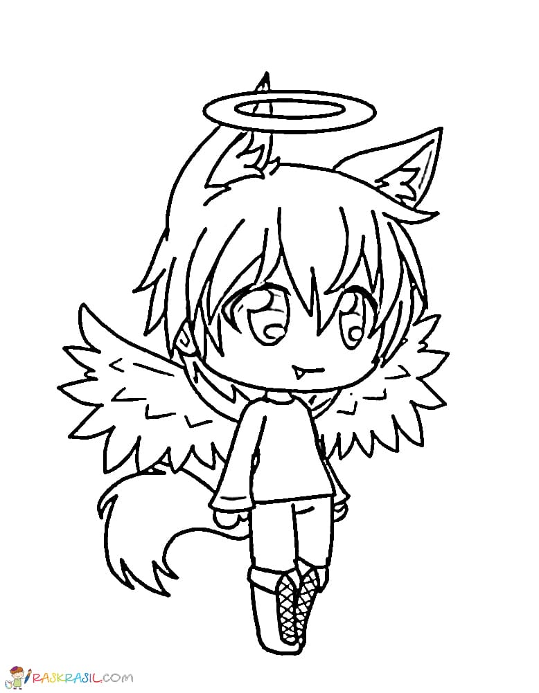Gacha Life Coloring Pages Unique Collection Print For Free Angel Coloring Pages Coloring Pages For Boys Coloring Pages For Girls