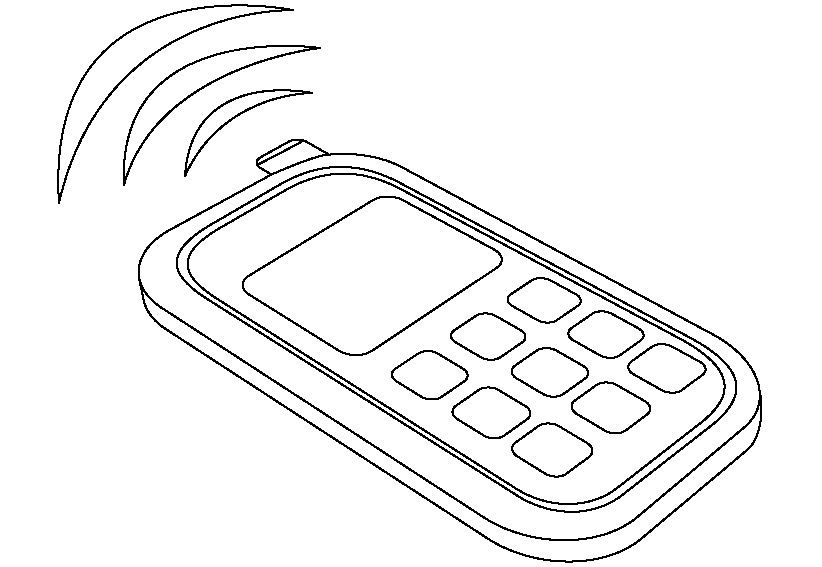 Dibujos De Telefonos Antiguos Buscar Con Google Coloring Pages Phone Free Cell Phone