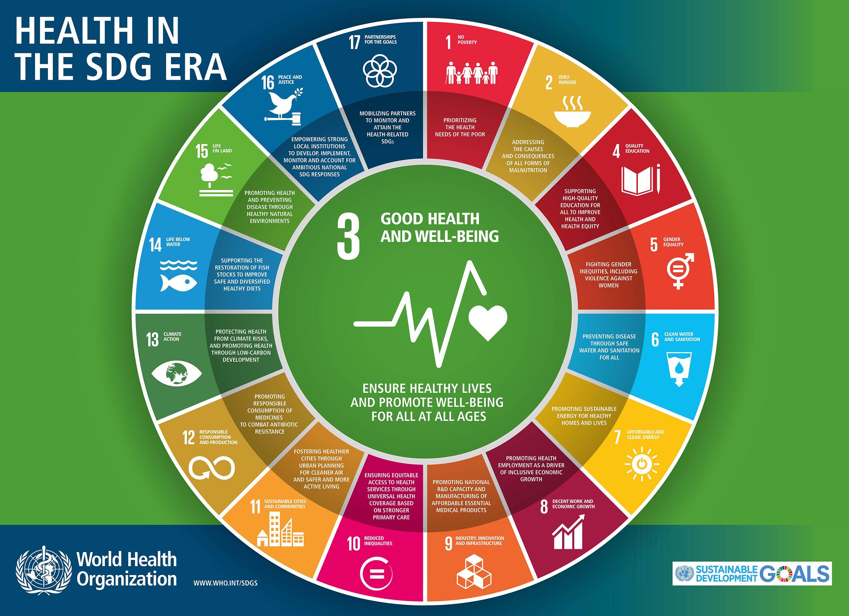 Health In The Era Of The Sdgs Who Unitednations Healthandwellness Globalgoals Sdgs Co Sustainable Development Goals Health Goals Sustainable Development