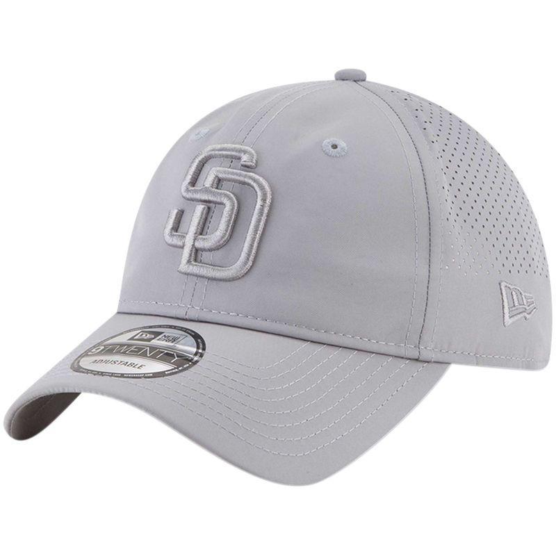 sale retailer 3cdd5 91668 San Diego Padres New Era Perforated Tone 9TWENTY Adjustable Hat - Gray