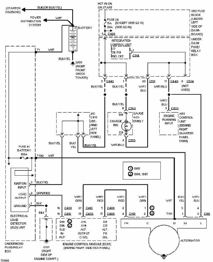 Charging Circuit Diagram Of 1997 Honda Accura Integra Diagram Circuit Diagram Acura Integra