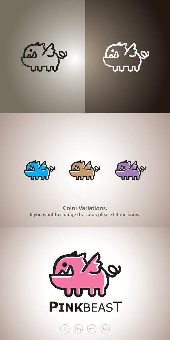 Pink Pig The Beast Logo Template | Monster Design | Pinterest ...