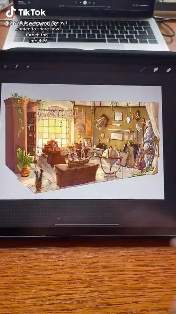 Confusedswedee Tiktok Video In 2021 Digital Art Tutorial Drawings Digital Drawing