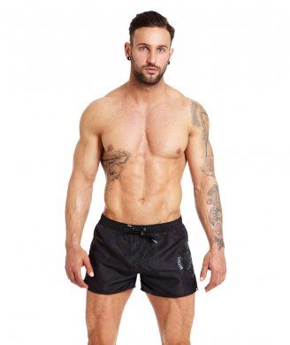 698d10271a Updated for Summer 2014 the Diesel Coral Rif Black Men's swim shorts  modeled by Liam Macca