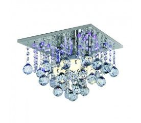 Lampa Led Escada 3 X 40 W E14 Chrom Ceiling Lights Decorative Bowls Chandelier