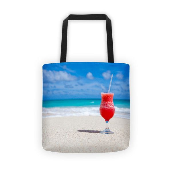 Drink on a Beach Tote Bag