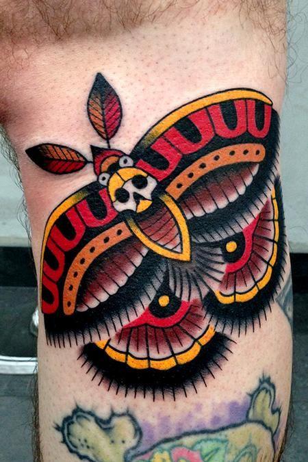 Jonathan Montalvo - moth tattoo / San Marcos, TX