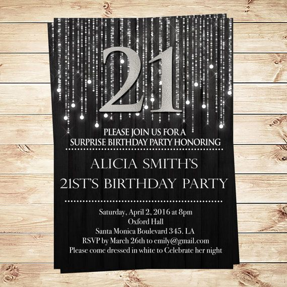 Elegant Black And Silver 21st Birthday Invitations And Announcements 50th Birthday Party Invitations Birthday Party Invitation Templates Elegant Birthday Party