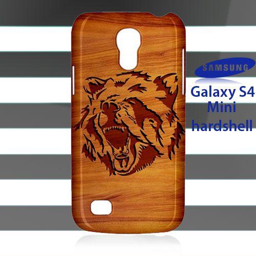 NEW Tribal Mad Bear on Wood Samsung Galaxy S4 Mini Case Cover