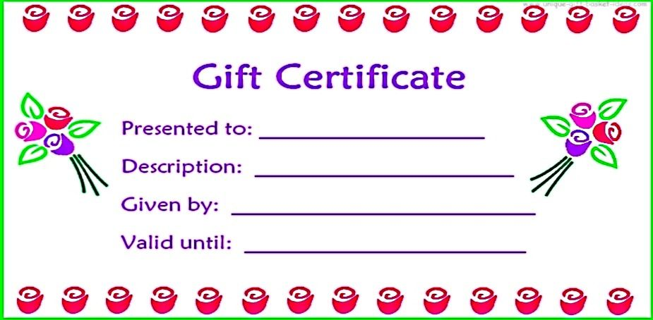 17 best ideas about Blank Gift Certificate – Free Printable Gift Voucher