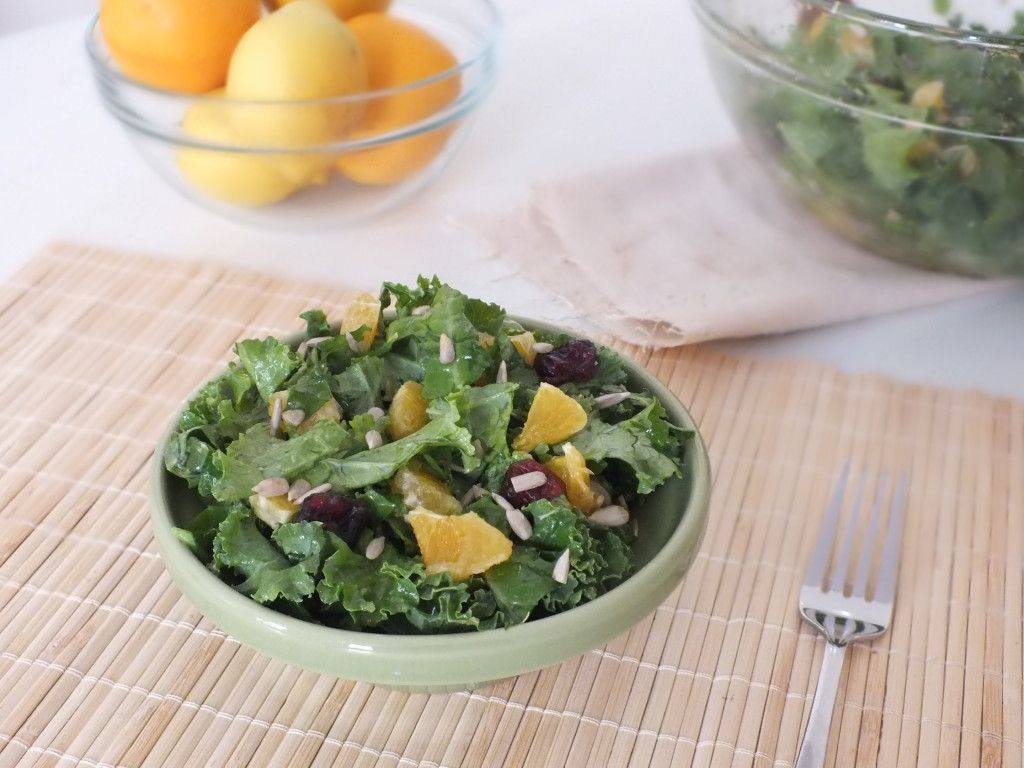 10-Minute Citrus Kale Salad [Raw, Vegetarian, Gluten-Free]