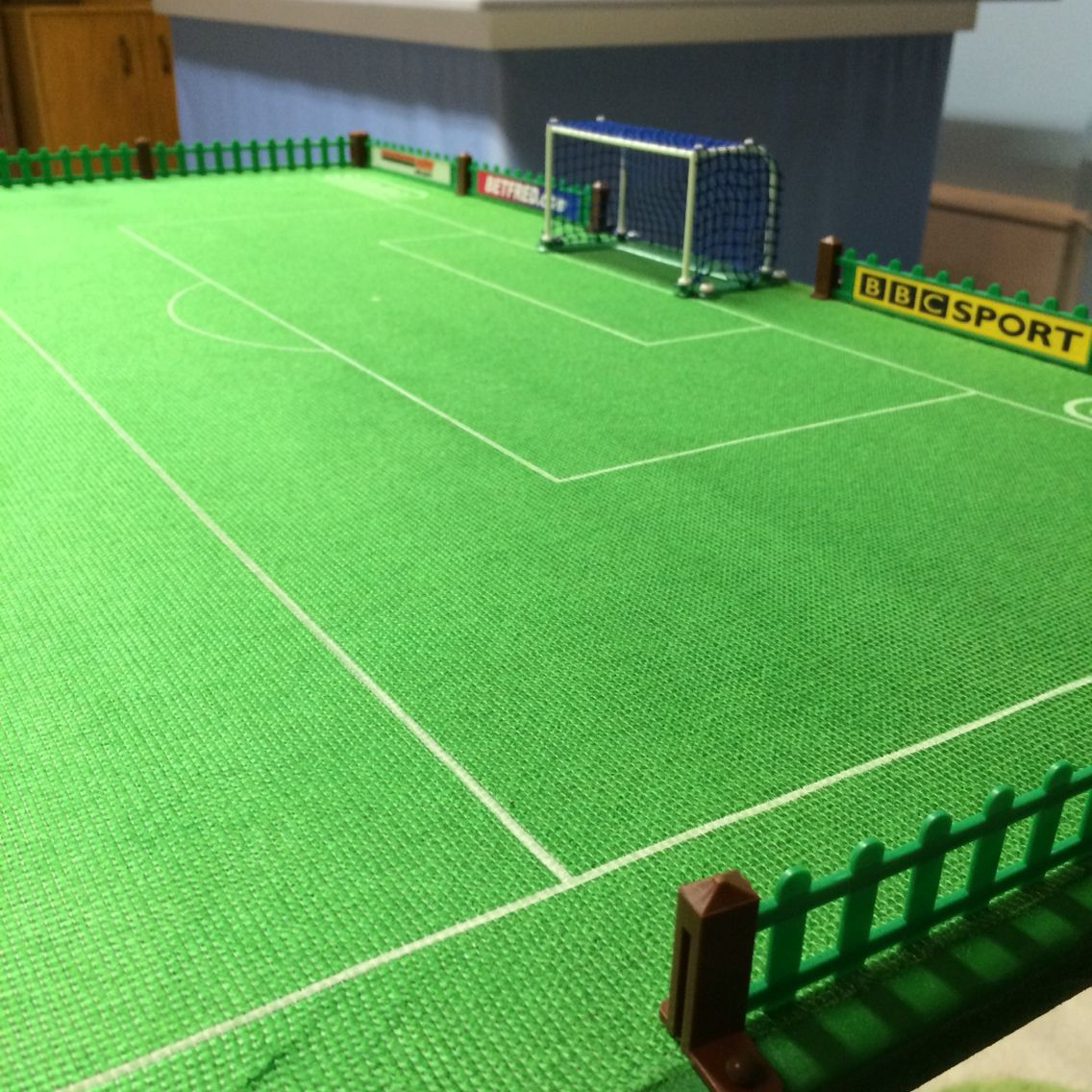 kids table crap cloth pegasus plastic goals subbuteo table
