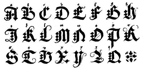 Letras Goticas Para Tatuajes Simbolos Medievales Blogichics