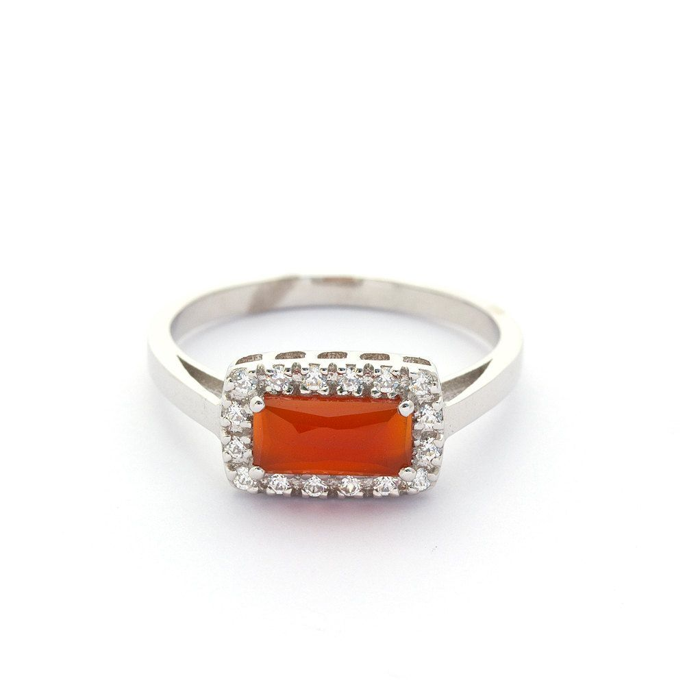 juliet and oliver baguette orange carnelian halo