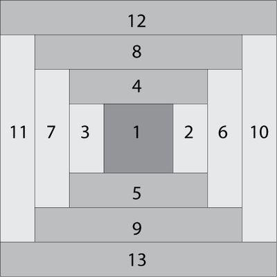 Make Easy Courthouse Steps, a Log Cabin Quilt Block Variation ... : courthouse steps quilt block - Adamdwight.com
