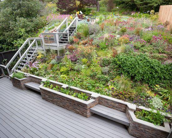 Construire un mur de soutènement - 84 idées jardin pratiques Stone - banc en pierre pour jardin