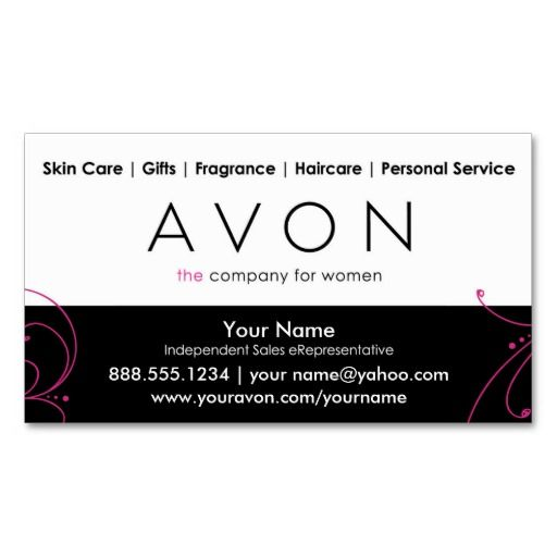Custom avon business cards business avon pinterest custom avon business cards reheart Choice Image