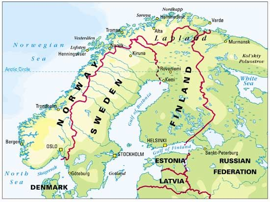 Map Of Lapland Rovaniemi Lapland Finland